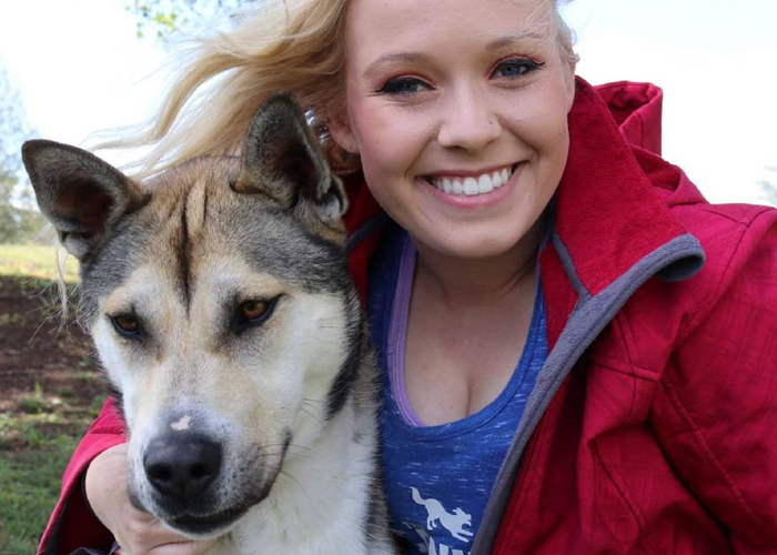 Alicia Head Shot with Rescue Dog - dog trainers near atlanta