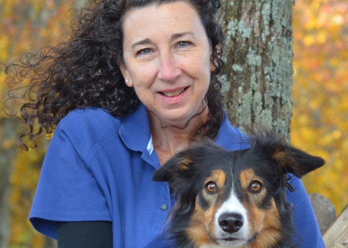 Brenda Head Shot with Border Collie - dog trainers near atlanta